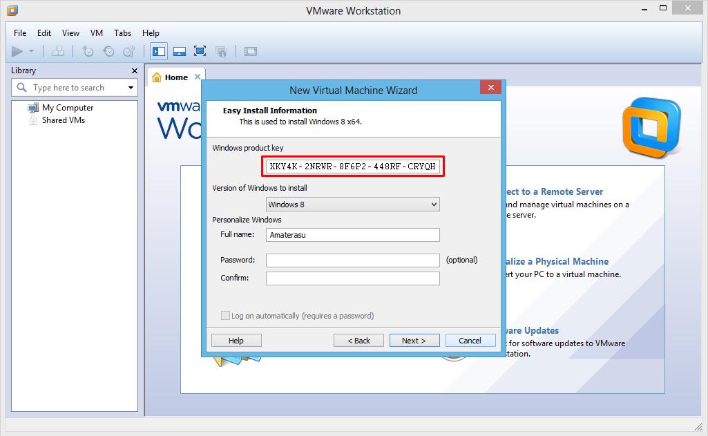 Masukkan Windows product key