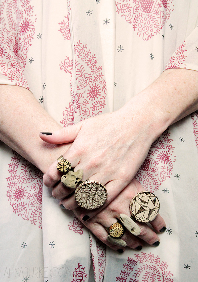 fashion friday- wood rings