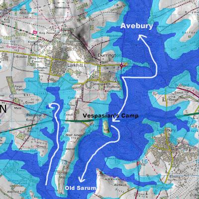 Vespasian Camp - showing post glacial flooding