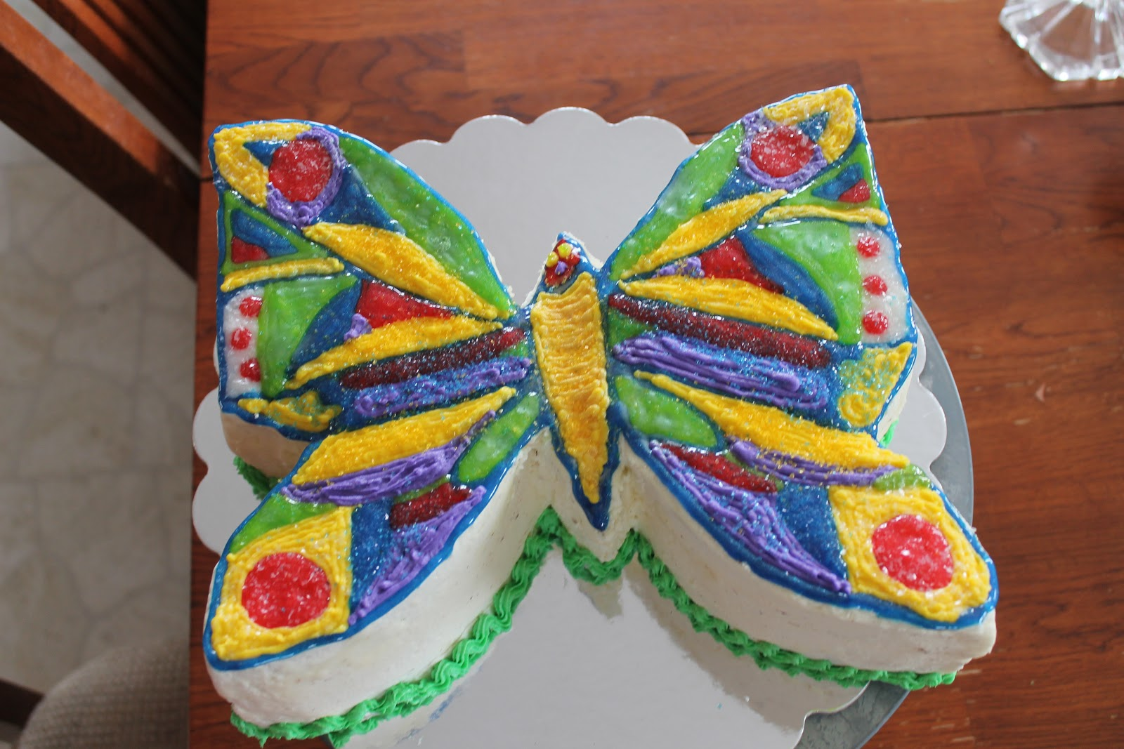 Very Hungry Caterpillar Butterfly Cake It's our so called blo...