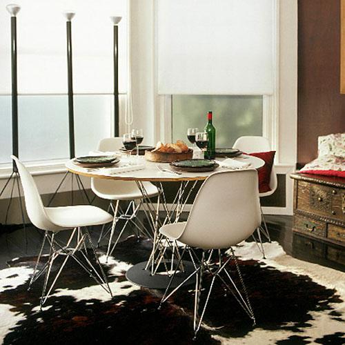 Decora o 10 salas de jantar com mesa redonda cores da casa for Mesa redonda para cocina pequena
