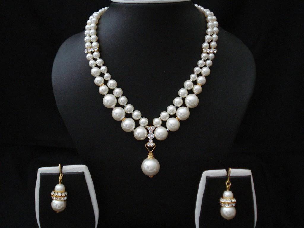 Pearl Fashion Jewelry Necklace Set 33 ~ Fashion Jewellery