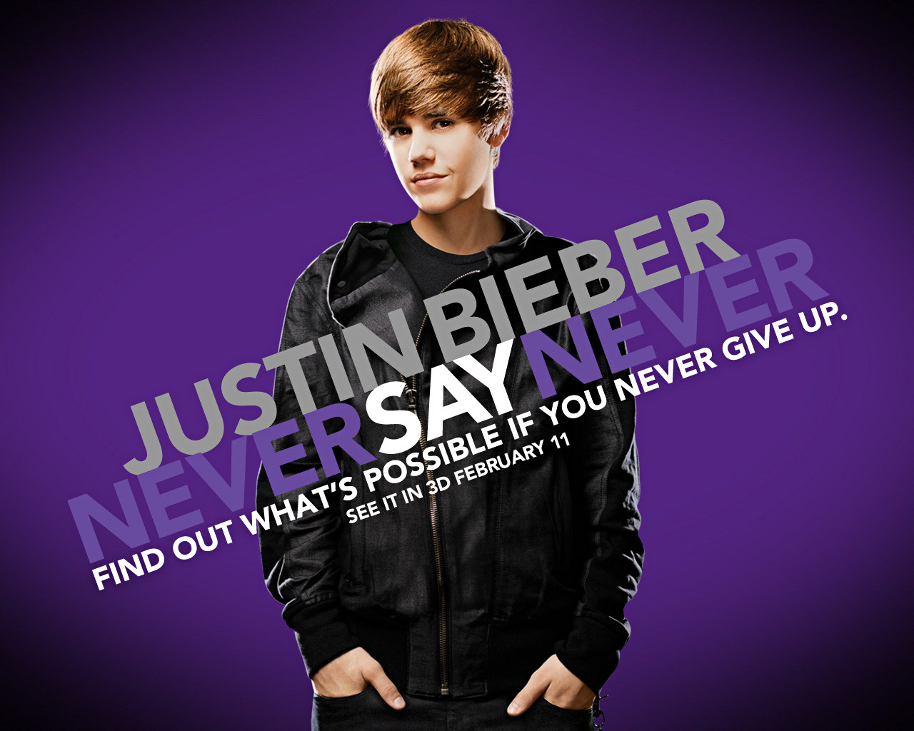 Justin Bieber Never Say Never Wallpapers Fanpop