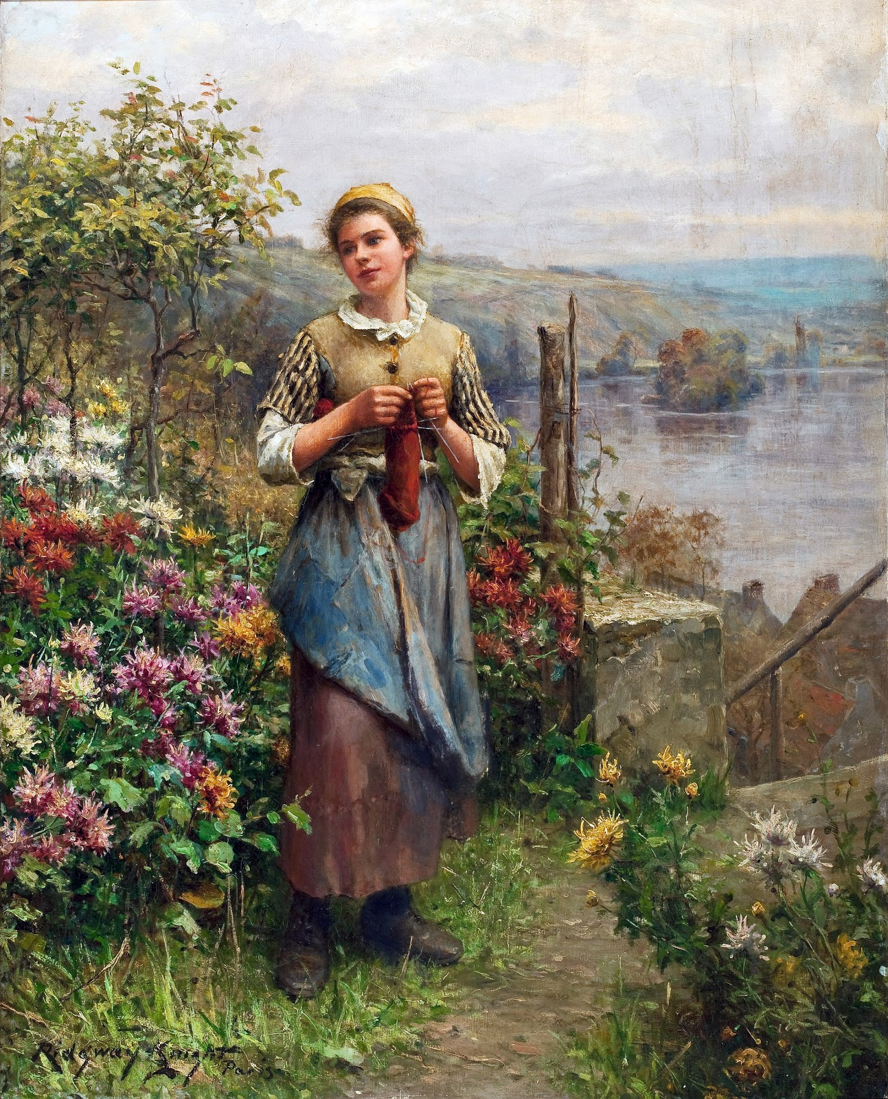 19th Century American Paintings: Daniel Ridgway Knight, Ctd
