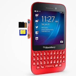 Memasukkan SIM dan SD Card ke BlackBerry Q5