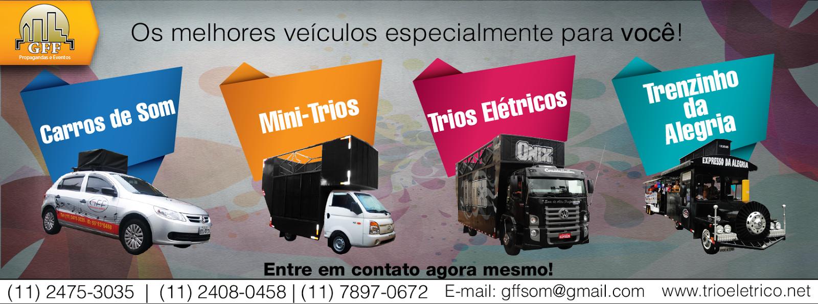 Aluguel de Carro de som, Trio elétrico, Mini trio e Trenzinho da Alegria (11) 2475-3035 / 2408-0458
