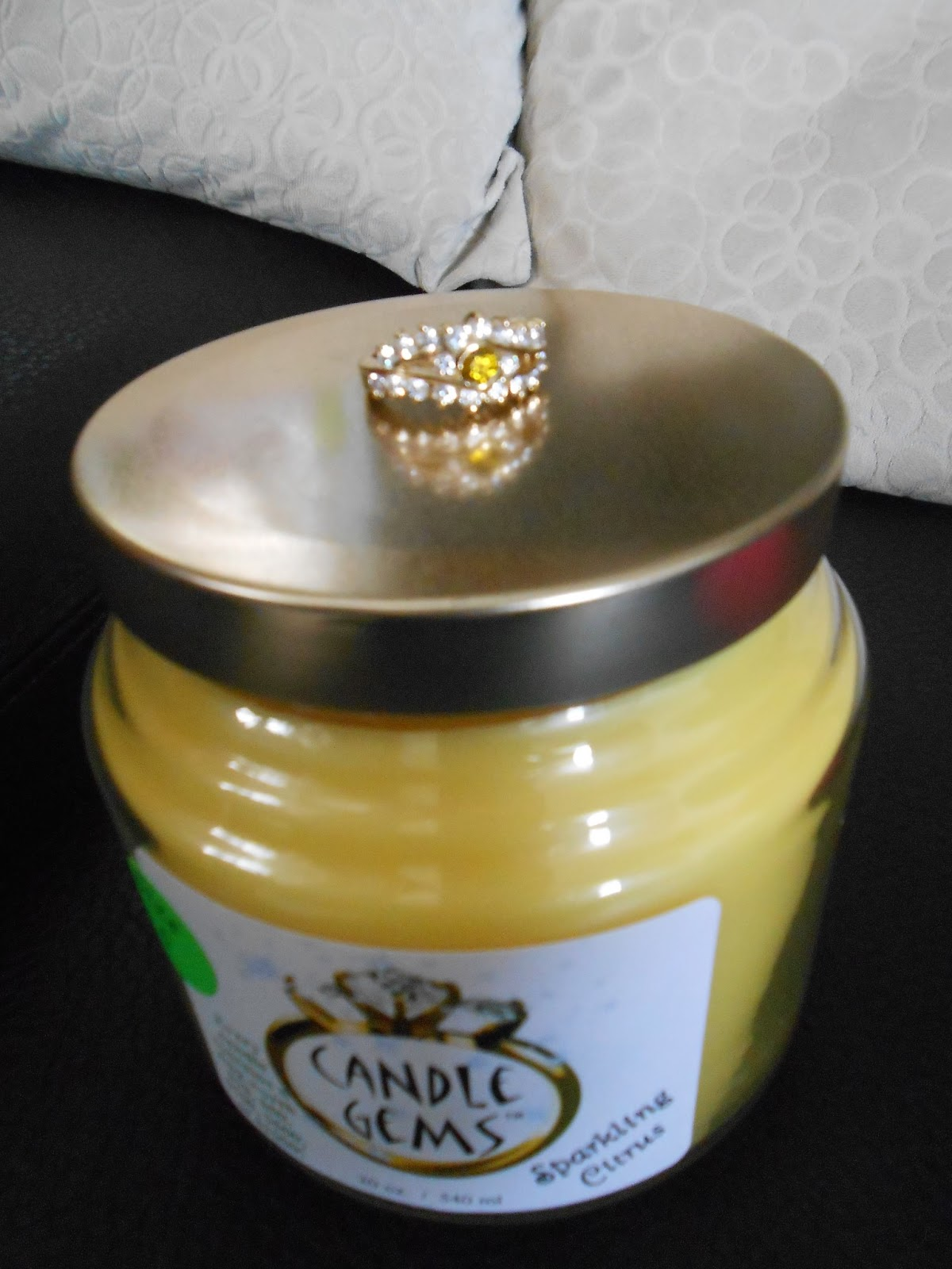 just simply missy candle gems soy candles with a ring inside. Black Bedroom Furniture Sets. Home Design Ideas