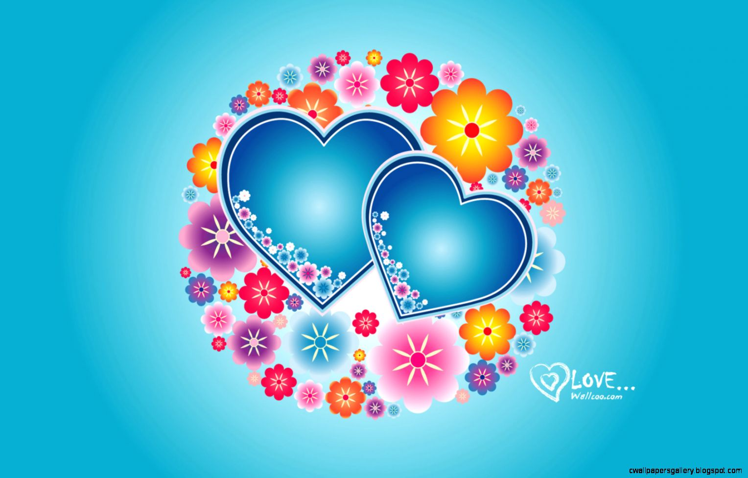 Colorful Hearts Wallpapers   Wallpaper Zone