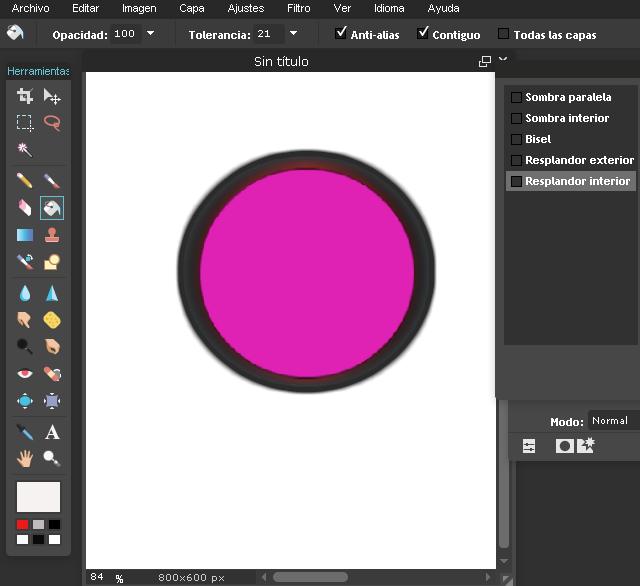 Circulo del boton en 3D