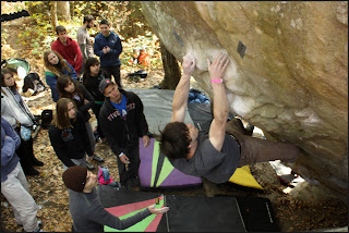 Jimmy Webb climbing at Horse Pens