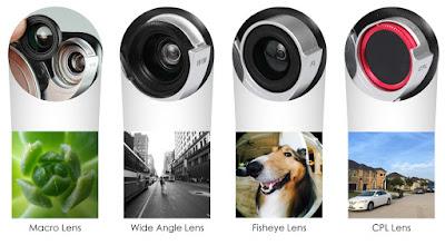 4 Lensli (Balık Gözü+Geniş Açı+10x Macro+Polarize