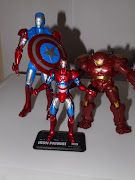 Here is Iron Patriot next to Ironman 2's Hulk Buster Armor and Captain .