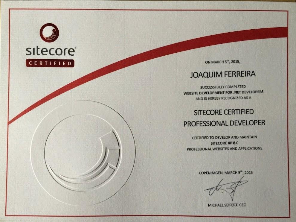 Joaquim Ferreira - Sitefinity 7 and Sitecore 8 Certified, Senior ...