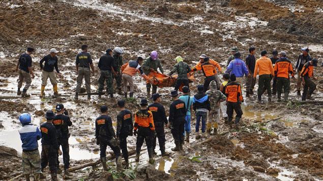 Glissement de terrain en Indonésie