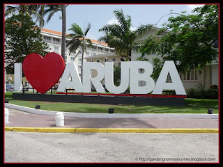 I Love Aruba sign in Oranjestad, Aruba