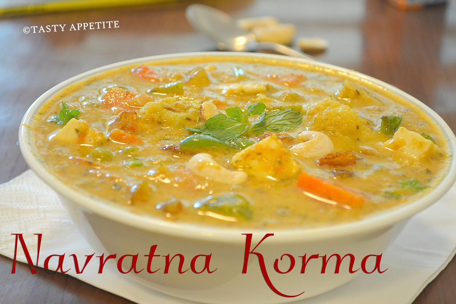 Navratna korma mixed veg curry side dish for roti naan try this delicious authentic and very flavorful creamy navratan korma recipe and enjoy the applause from your loved ones forumfinder Gallery