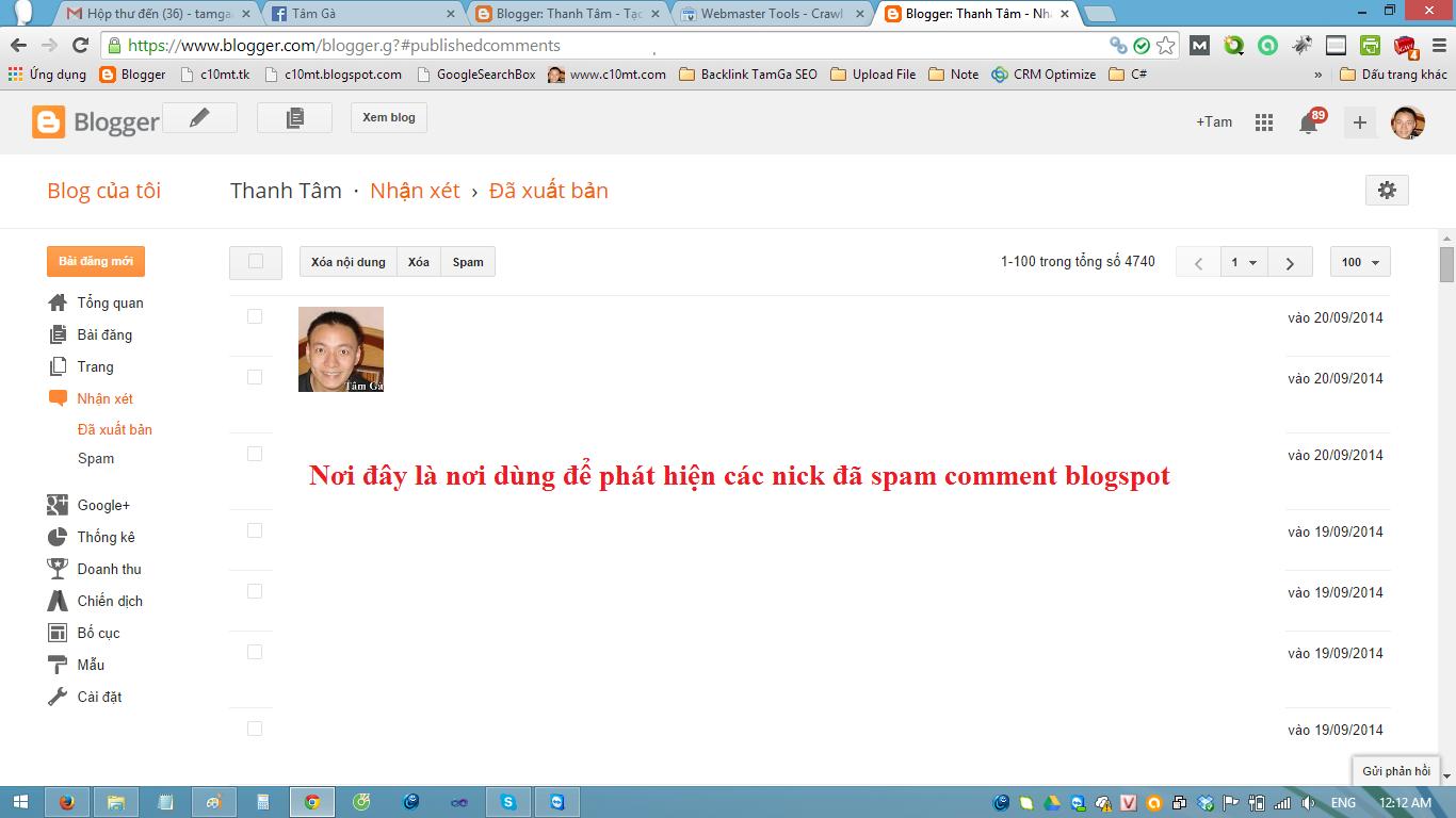 auto spam comment blogspot nhận xét