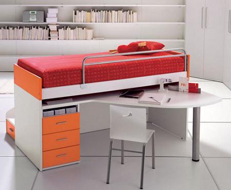 Dormitorio con mesa de estudio - Dormitorios con escritorio ...