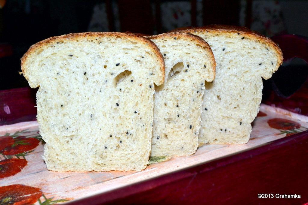 Chleb orkiszowy z czarnuszką, na starterze Tang Zhong.