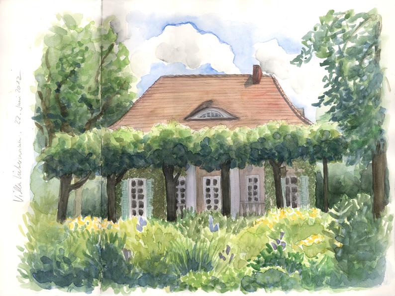 Die villa und der garten von max liebermann - Garten zeichnen ...