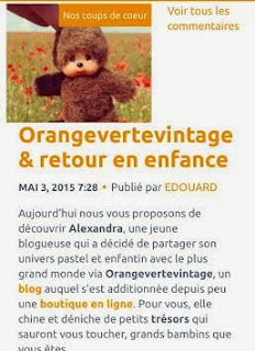 Article Coup de Coeur Orangevertevintage