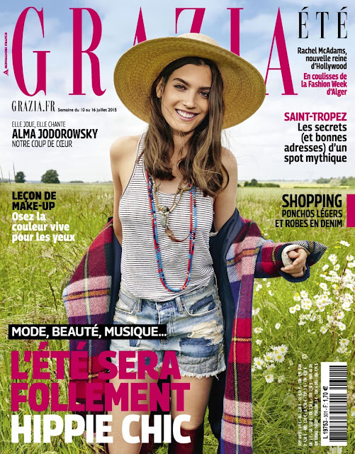 Actress, Fashion Model @ Alma Jodorowsky - Grazia France, July 2015