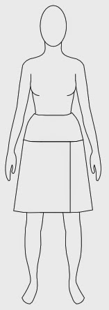free skirt with overlap sewing pattern