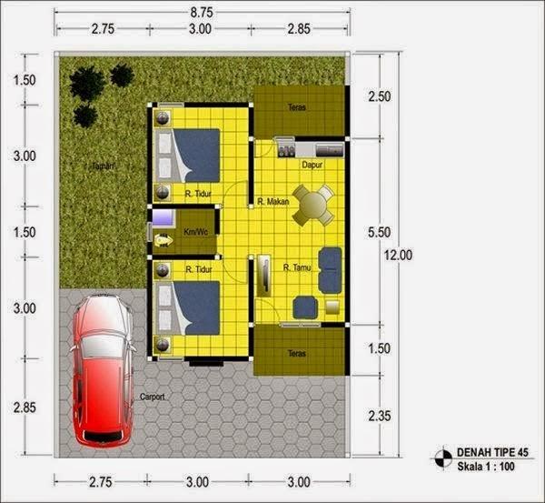 Desain Rumah Minimalis Type 45 Terbaru