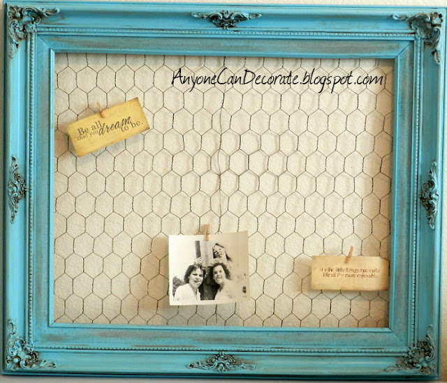 Diy Wire Frame Glasses : Anyone Can Decorate: USD5 DIY Memo Board - Thrifty Crafty Chic