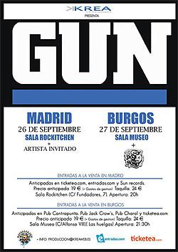 Conciertos de Gun en Madrid y Burgos en septiembre