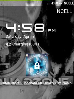 CyanMobile Lockscreen with Music and other Widget