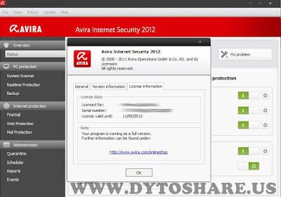 inu Key Avira Internet Security   Valid Until 11092013