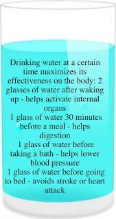 Momentos certos para beber água