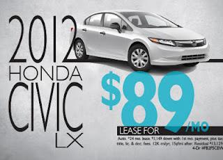 honda new car specials 4545454