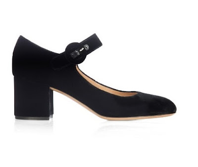 Gianvito Rossi black low heeled mary jane shoes