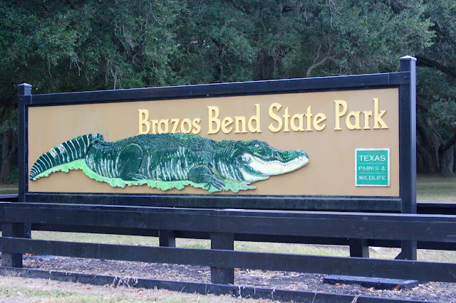 Brazos Bend State Park Sign-Needville, Texas