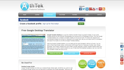 Free Google Desktop Translator, Dictionary