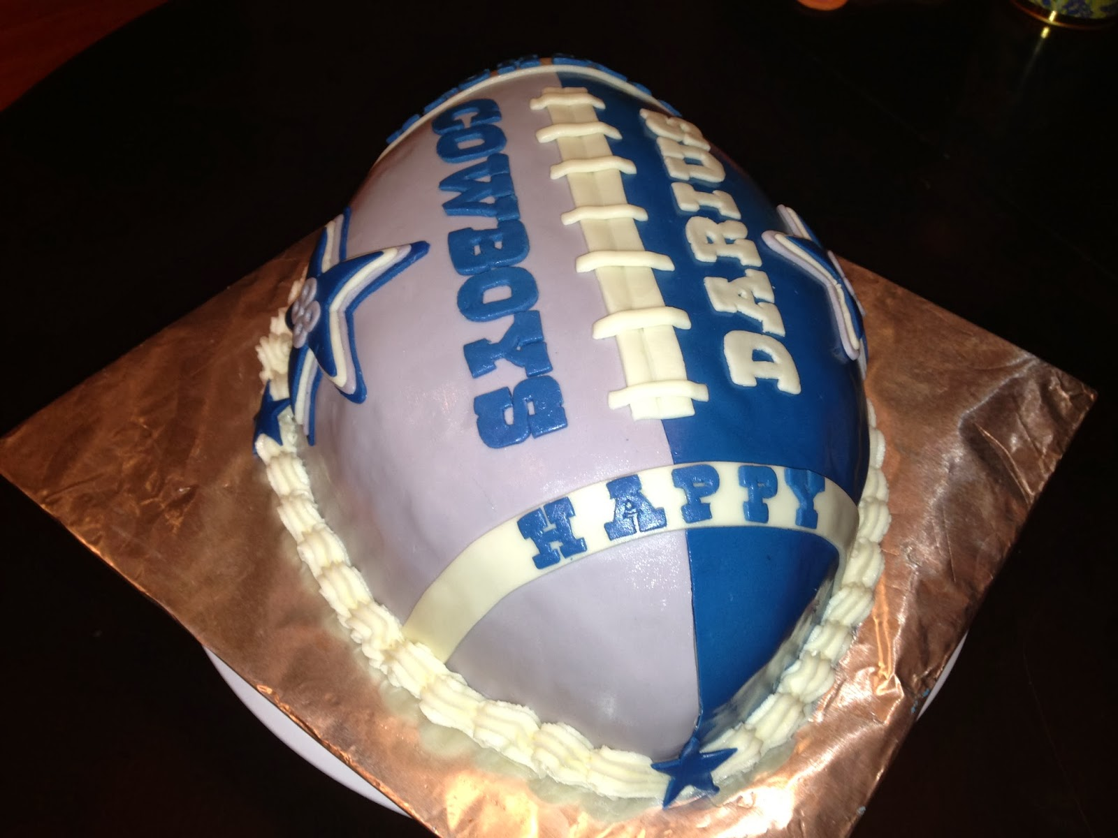 Joyce Gourmet Dallas Cowboys Football Cake