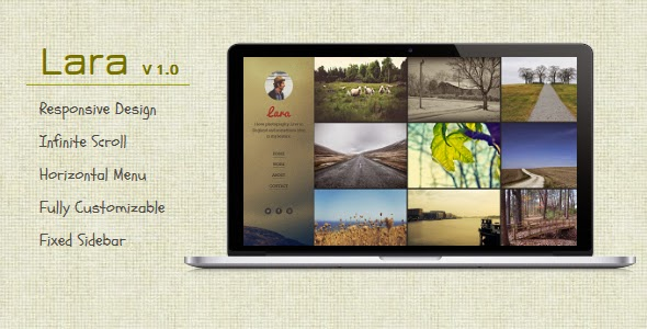 Lara - Blogger Template For Photographers
