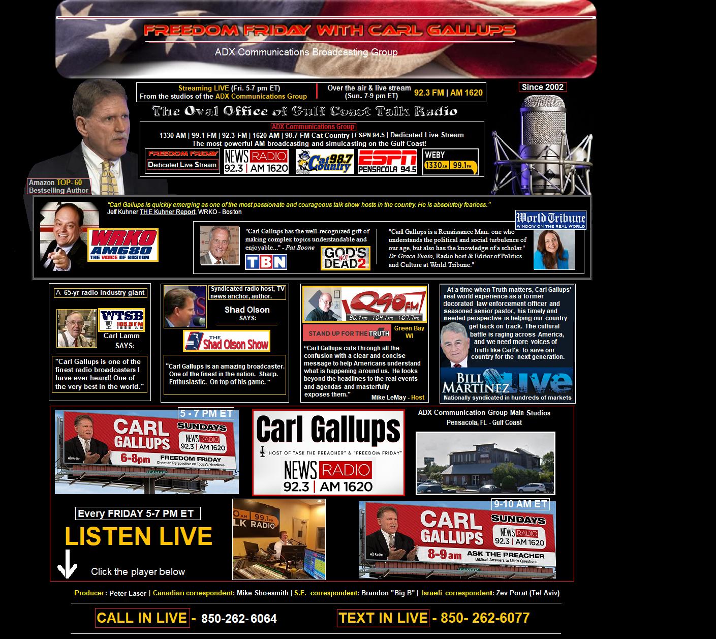 Freedom Friday With Carl Gallups   Carl Gallups Broadcasting