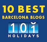 Voted one of the 10 Best of Barcelona Blogs by 101 Holidays!