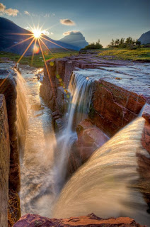 Triple Falls, Glacier Park, USA