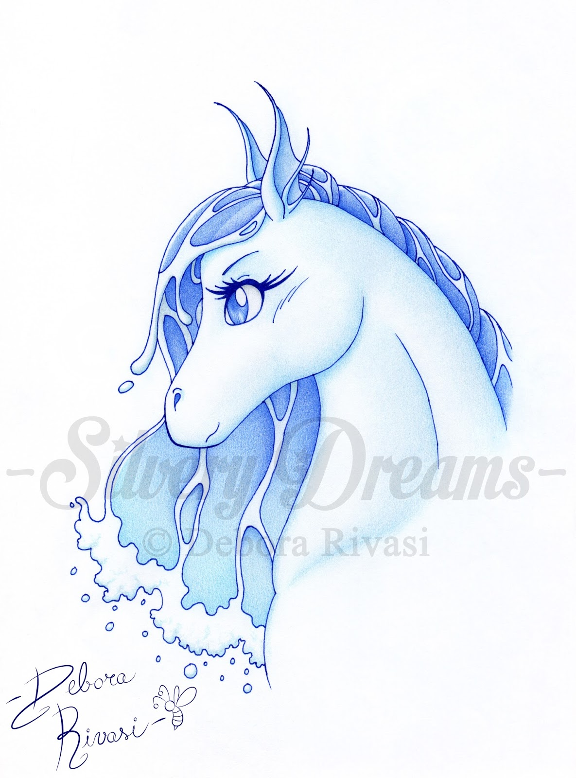 Silvery dreams nadi hippocamp spirit of water for Immagini dei cavalli da colorare