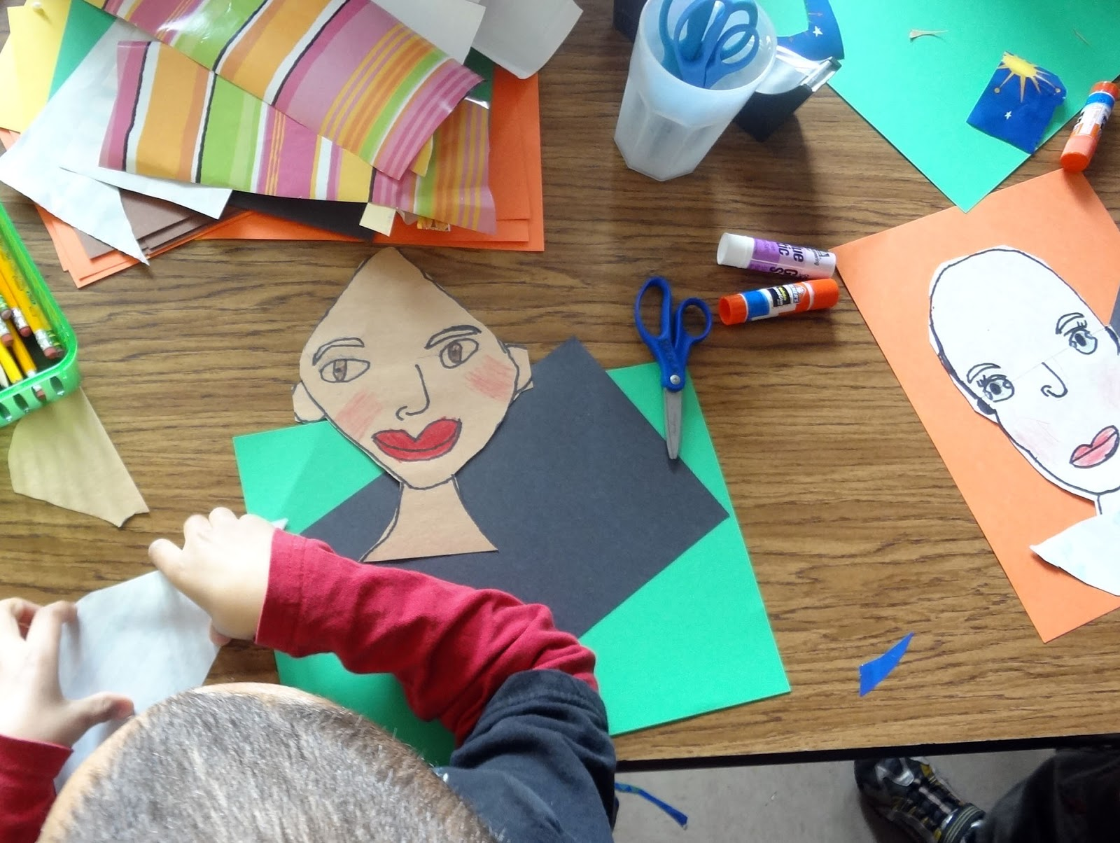 the talking walls first grade self portraits