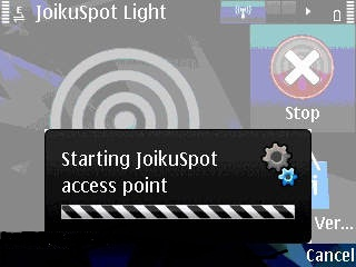 symbian hotspot wifi  joikuspot light3