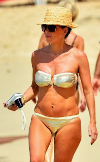 Alan Shearer wife Lainya Gold Bikin Barbados