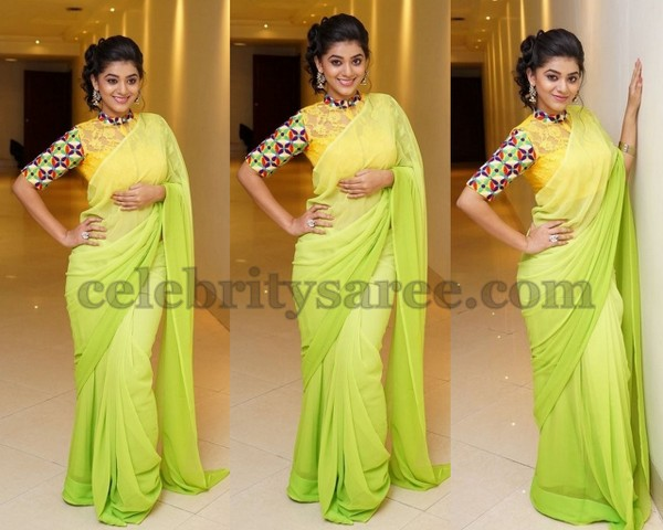 Yamini Lime Green Saree