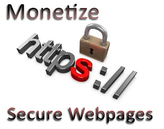Monetize secure HTTPS webpages