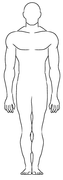 Male Body Outline Template