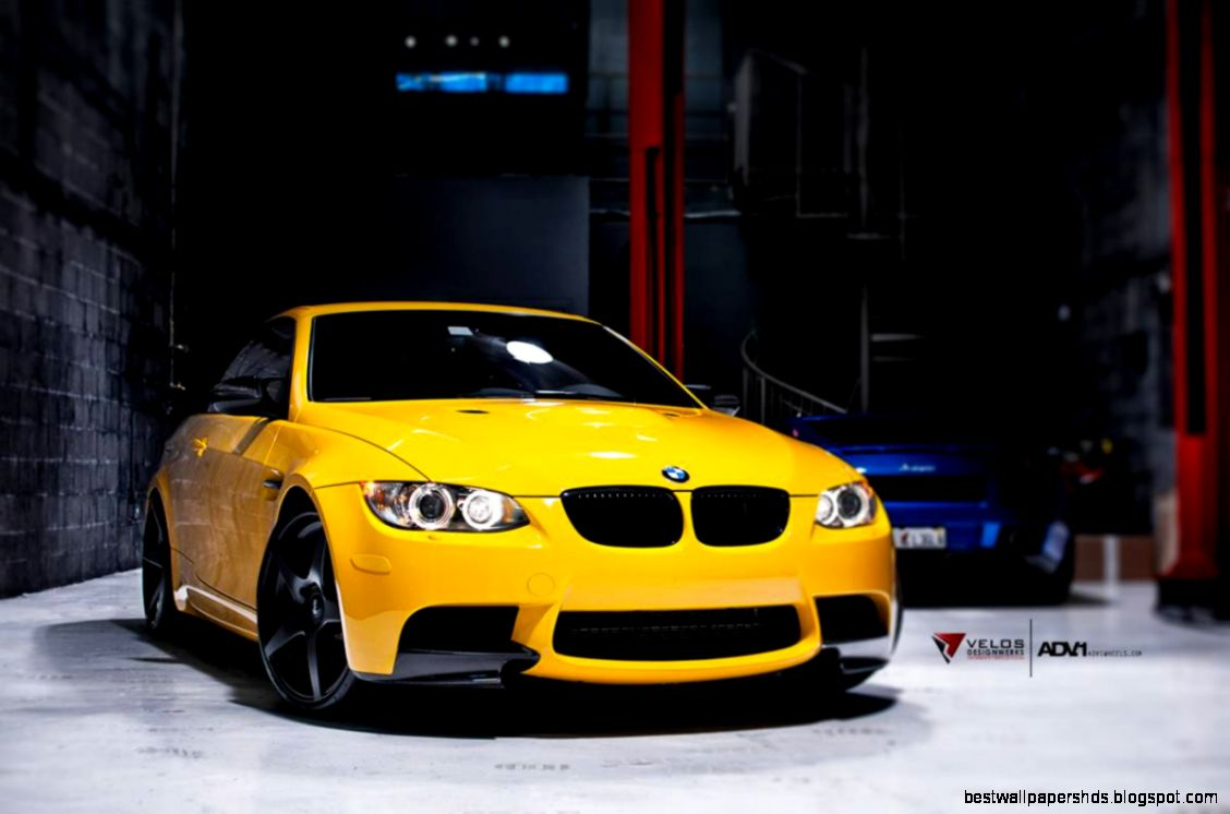 Bimmers Yellow BMW M3 E92 on black ADV51 wheels